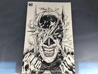 BATMAN WHO LAUGHS #1 SIGNED BY TONY DANIEL Sketch Variant Torpedo Comics NM+