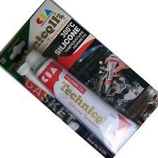 1x Negro HT Alta Temperatura 70ml Sellador Adhesivo de silicona resistente al calor 300'C
