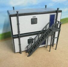 2 Tier Portable Office / Jack leg Cabin with Stairs Card Buildings 3 D stairs
