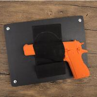 Concealed Hand Gun Pistol Holster Holder w/ Mag Pouch Under Desk Table Door Bed