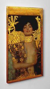Quadro Klimt Judith Stampa di Pregio su Tela Canvas in Cotone Vernice Pennellate