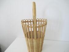 Schirmständer - Schirmhalter  Natur - Bambus -  Korb Vintage