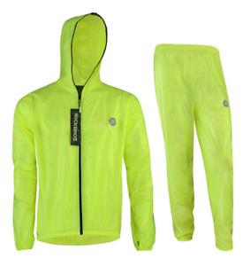 ROCKBROS Waterproof Cycling Raincoat Men Women Bicycle Reflective Cycling Jersey