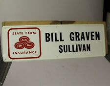 Antique State Farm Insurance Tin Advertising Sign from Sullivan, Illinois