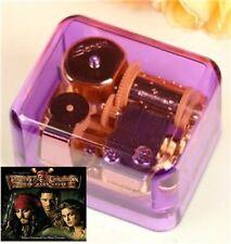 Sankyo Purple Acrylic Music Box :Pirates of the Caribbean Davy Jones