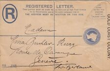GOLD COAST:1894 TWO PENCE Registered Envelope size G H & G C5 a used /not posted