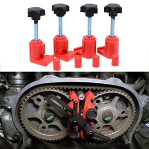 Upgrade Dual Cam Clamp Camshaft Timing Sprocket Gear Locking Tool Kit 5Pcs/Set