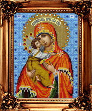 Vladimir Mother of God Set For Bead Embroidery Religious Embroidered Icon DIY