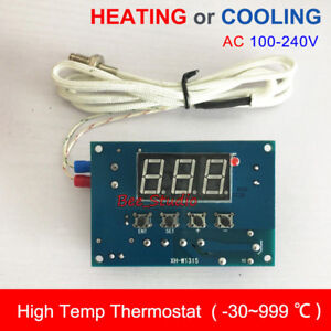 AC110V 220V High Temperature K-Thermocouple Digital LED Temp Controller Switch