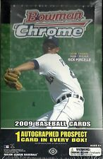 2009 Bowman Chrome Factory Sealed Baseball Hobby Box  Daniel Murphy RC ??