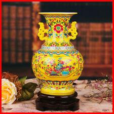 1100s Chinese Antique Replica colour enamels Ceramic Pottery VASE FL01