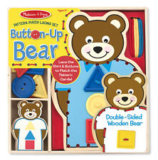Melissa & Doug Pattern-Match Lacing Set  Button-Up Bear #9492 BRAND NEW