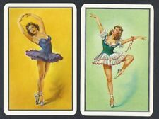 #150.507 vintage swap card -MINT pair- Ballerinas, Ballet Dancers