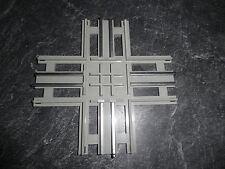 Lego 12 V Eisenbahn: 1 Kreuzung grau