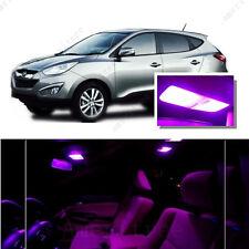 For Hyundai Tucson 2010-2016 Pink LED Interior Kit + Pink License Light LED