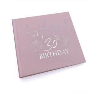 30th Birthday Gift For Her Pink Photo Album With Silver Present Script