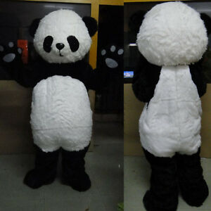 Professional Panda Bear Outfit Mascot Costume Adult Size Fancy Dress For Party