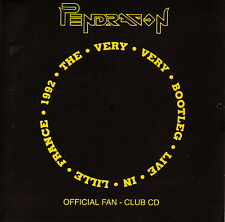 PENDRAGON - LIVE in Lille France 1992 Fan Club CD Toff Records