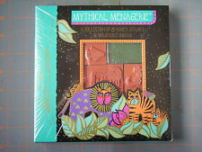 LAUREL BURCH MYTHICAL MENAGERIE RUBBER STAMP SET OF 8 RARE ART DECO ANIMALS NEW!