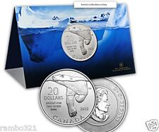 SILVER CANADIAN $20 POLAR BEAR coin BY THE ROYAL CANADIAN MINT .9999 Canada