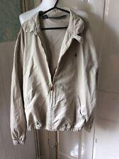 Men's Ralph Lauren Polo Harrington Jacket X-Large Beige Tan Zip Up(c0019)