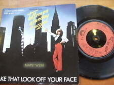 MARTI WEBB<198>TAKE THAT LOOK OFF YOUR FACE< 45rpm 7ins JUKEBOX SINGLE RECORD