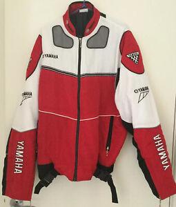 Yamaha Men Jaket red white black supporter wear Approximately size large