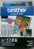 Exp 01/2021 Brother LC51BK Genuine OEM Black Ink Cartridge Brand New Sealed