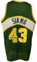 "Seattle Supersonics Jack Sikma Signed Custom Pro Style Green Jersey ""HOF 19"" ..."