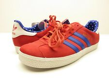 NEW Adidas Gazelle 2 J Casual Sneaker Red, White, Blue Shoes Youth Size 6
