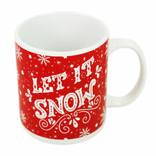 Novelty Mug with Christmas Slogan Design - Let it Snow
