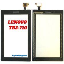 VETRO+TOUCH SCREEN LENOVO per TAB 3 Essential TB3-710F 710L 710i NERO DIGITIZER