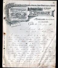 """CHELLES (77) USINE des HAUTES NONNETTES ,PLATRES BRIQUES CHAUX """"L. ETERLET"""" 1910"""