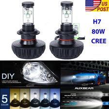 H7 80W CREE LED Headlight Kit Car Head Fog Light Lamp Bulb 6500K 16000LM 12V