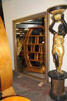 XL French Gilt Pier Mantle Mirror Glass Mirrors