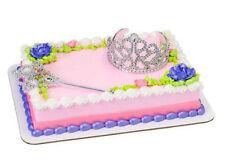 Tiara Crown Scepter Silver Princess Queen cake decoration Decoset cake topper