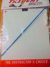 Scuba Snorkeling Underwater Slate 8x10 w/Pencil Q/D End Sl64M