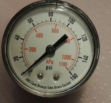 "2"" Test Pressure Gauge, 0 to 160 psi"