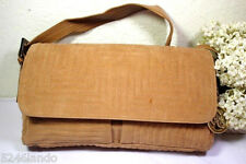 Vintage BALLY THick Corduroy Leather Flap Quilted Shoulder Bag Italy