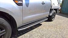 Mazda BT50 Freestyle Cab Side Steps Black Powder Coated2012+ (Raptor Style)