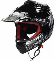 ARROW AKC-49 black Cross-Helm Kids Kinder-Helm Pocket-Bike Enduro GR.S