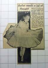 1953 Marilyn Scopes Putney Five Years Old Promising Ballet Anna Lendrum School