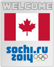Russia Sochi 2014 Olympic Welcome Canada Flag pin