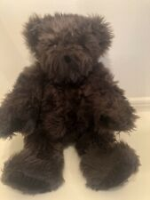 "The Vermont Teddy Bear Jointed Espresso Chocolate Brown 16"" Plush, Premium Fur!"
