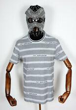 Huf Worldwide Skateboard T-Shirt Tee Enzo Striped Knit Top Black in M