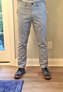 Lands' End Men's Khaki Slim Chino Pale Slate Pants Sample Pair 1 kind NWT #285