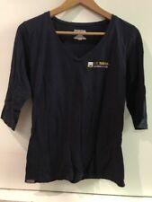 Jansport UC Davis School Of Law Womens V Neck 1/2 Sleeve T Shirt Top Size Small
