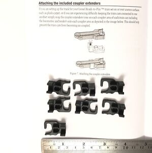 Lionel Ready To Play Lot of 8 Coupler Extenders -with instruction sheet