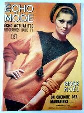 L'echo de la mode n° 50 du 13/12/1964 La mode de Noël