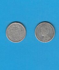 § PAYS-BAS NETHERLANDS 25 Cents 1913  Silver Coin